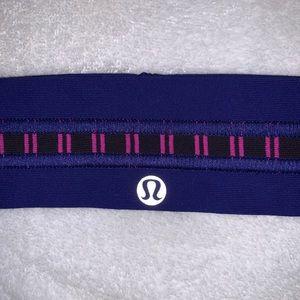 Striped Purple And Pink Lulu Lemon Headband